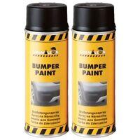 Bumper Paint Schwarz 2 x 400ml Stoßstangen Spray Lack Kunststoff Farbe Chamäleon