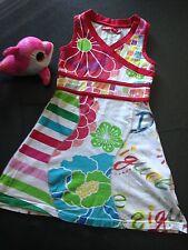 DESIGUAL Marken Mädchen Sommer Kleid ärmellos bunt Mustermix  Gr.5/6 110 116