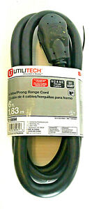 UTILITECH 6' 4-Wire/Prong Range Cord (#0118694) 125/250V / 50A (NEW)