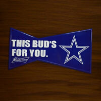 Budweiser Bud Light Beer Dallas Cowboys Poster Home Decor Metal Tim Sign