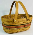 Longaberger OVAL MARKET Basket RED & BLUE Patriotic American Celebration NEW
