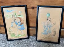 2 X ANTIQUE FRAMED AND GLAZED MIDDLE EASTERN DRAWINGS