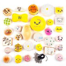 30PCs Jumbo Medium Mini Random Squishy Soft Panda/Bread/Cake/Buns Phone Straps