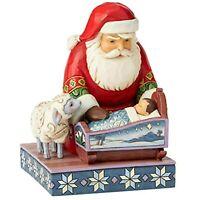 Enesco Jim Shore Heartwood Creek Santa Claus by Baby Jesus Figurine 6004132