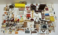 Huge Lot of Assorted Doll House/Miniature Furniture, Accessories, & Parts