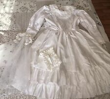 Holy Communion Dress / Bag / Lace glove set (9yrs but fitted an 11-12yrs)