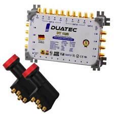 Duatec Multischalter 9/8 Switch FULL HD 3D 4K UHD 8 Teilnehmer + 2 x LNB