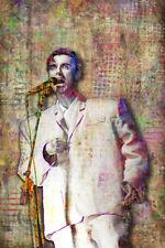 David Byrne of The Talking Heads Pop Art Poster, David Byrne 12x18 Free Shipping