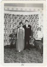 1940s Black & White Snapshot of Mind-Blowing Carpet-Drapery-Wallpaper Combo