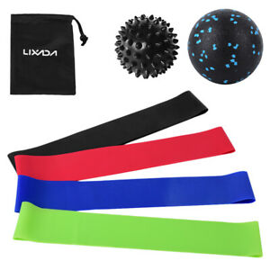 Exercise Resistance Loop Bands with Fascial Ball Spiky Ball Elastic Booty E2K3
