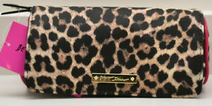 Betsey Johnson Cosmetic Case Makeup Bag Leopard New! NWT