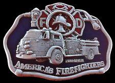Firefighter Fireman Fire Pumper Truck Belt Buckle Boucles De Ceinture Pompier