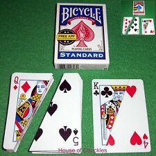 Comedy Split Magic Card Trick - Bicycle Back Decks - Blue or Red Back