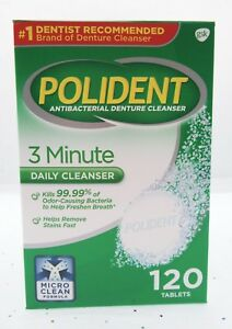 Polident Antibacterial Denture Cleanser false teeth tooth partial Dental clean
