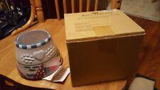 Home Interiors Ceramic Candle Shade Heart Warming Holiday Christmas Holly 56001