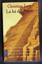 christian jacq la loi du desert - le juge d'egypte ** / editions presses pocket