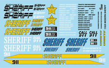 GOFER RACING 1:24 AND 1:25 SCALE MODERN SHERIFF VEHICLE DECAL SET FOR MODEL CARS