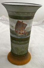 ROYAL BAYREUTH BAVARIA CERAMIC VASE SCHOONER SAILING BOAT FISHING VESSEL
