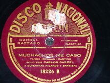 TANGO 78 rpm RECORD Disco Nacional CARLOS GARDEL Muchachos me caso / Copetin,...