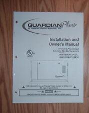 GENERAC 04390-3  GUARDIAN PLUS GENERATOR OPERATORS MANUAL
