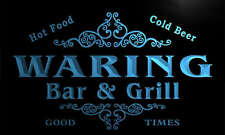 u47597-b WARING Family Name Bar & Grill Home Decor Neon Light Sign