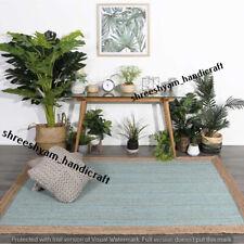 "3x5""Natural Indian Braided Rectangle Area Rug Jute Table Runner Floor Carpet Rag"