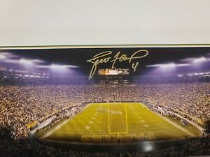 Brett Favre Signed Panoramic Autographed Packers Favre Hologram & COA