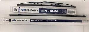 2008-2014 Subaru Tribeca B9 Front Windshield Wiper Blade Refill Set Genuine OEM