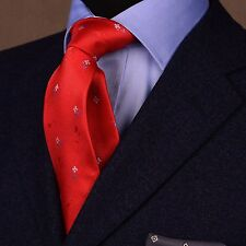 Red Hot Roses & Carnation Floral Classy Oputulent Rich and Luxurious 3 Inch Tie