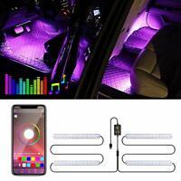 Upgraded Car Interior LED Lights - Trongle Car Strip LED Lights APP Controlled,