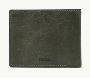 NWT Fossil Men's MORRIS Leather Billfold with ID Wallet ML4200257 Cement
