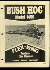 Bush Hog 1450 Flex Wing Tandem Disc Harrow Rare Original Factory Owner's Manual