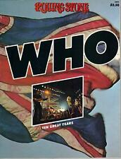 THE WHO Ten Great Years  very rare book from 1975  PETE TOWNSHEND