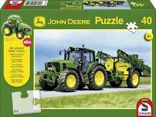 Schmidt John Deere Tracter With Sprayer Jigsaw 40 pc + Model Tractor