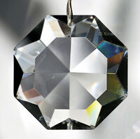 Crown Diamond Shaped Star 40mm Austrian Crystal Clear Prism SunCatcher 1-1/2 in