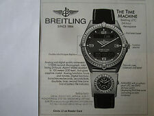4/89 PUB MONTRE BREITLING WATCHES UTC 24-HOUR AEROSPACE CHRONOGRAPH ORIGINAL AD