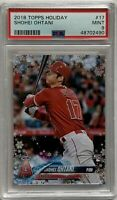 🔥 2018 Topps Holiday Baseball Shohei Ohtani RC #17 PSA 9 MINT Angels Rookie 🔥