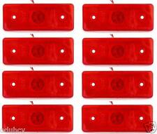 8x 4LED Red Marker Side Rear Lights 24 Volt Truck Trailer for MAN Scania DAF