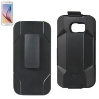 For Samsung Galaxy S6 Case Heavy Duty Swivel Belt Clip Holster with Kickstand