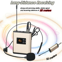 UHF Wireless Headset Microphone Lavalier Clip On Mic with