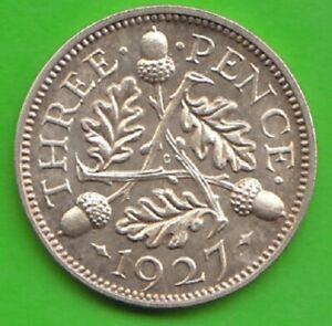 United Kingdom 3 Pence 1927 Proof Very Seltener Year nswleipzig