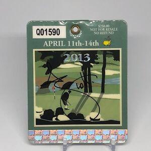 Adam Scott signed 2013 Masters golf badge JSA COA Winner PGA Z59