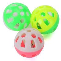 3X Katzenspielzeug Spiel Katze Katzen Spielzeug Ball Rassel Glocke^