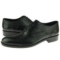"""Alex D """"Madison"""" Cap Toe Oxford, Men's Formal Dress Leather Shoes, Black"""