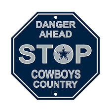 NFL Dallas Cowboys Stop Sign Room Bar Decor 12 x 12