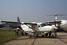 FedEx Airplane Cessna Caravan N742FX Original 35mm Slide