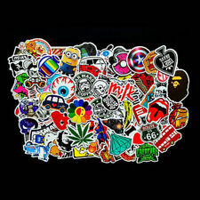100 Random Skateboard Stickers Vinyl Laptop Luggage Decals Sticker Lot Mixed