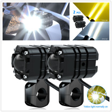1Pair Motorcycle 40W 6500K DC12V External LED Headlights w/Lampshade+Harness Set