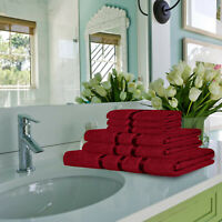 6 Pcs Bathroom Towel Bale Set 100% Egyptian Cotton Face Hand Bath Towels