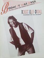 Robert Ellis Orrall: boom! se acabó (piano/Vocal/Guitarra Partituras) -! como Nuevo!